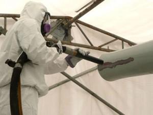 sablage décapage de peinture sur éléments en métal